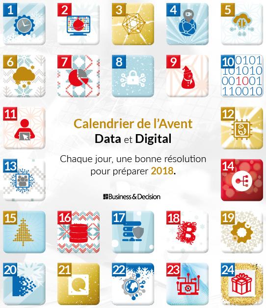 Calendrier de l 39 avent 24 r solutions data digital pour - Quoi mettre dans calendrier de l avent ...