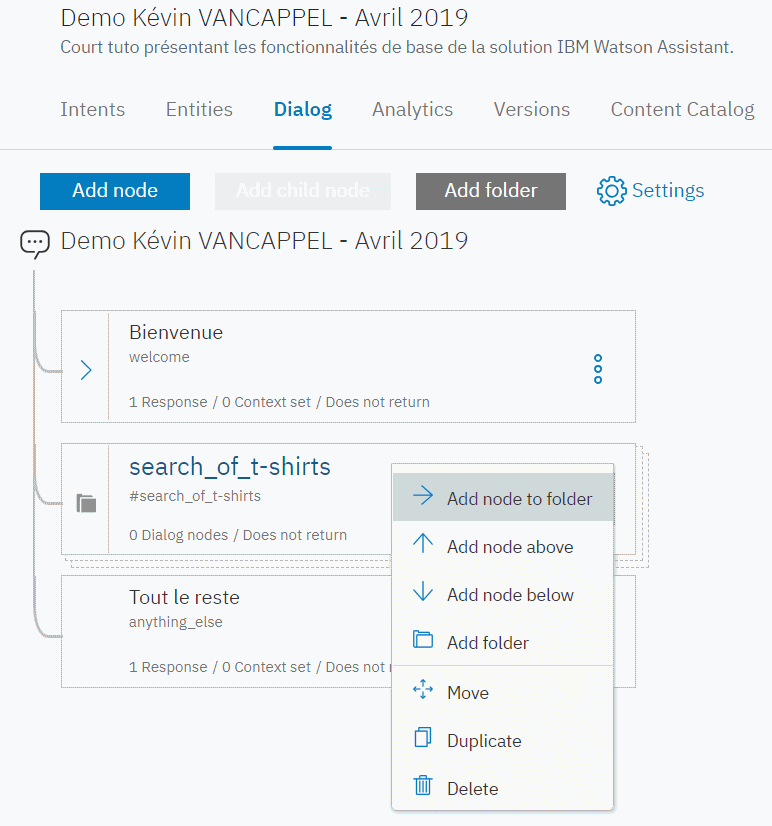 IBM Watson Assistant - folder search_of_t-shirts