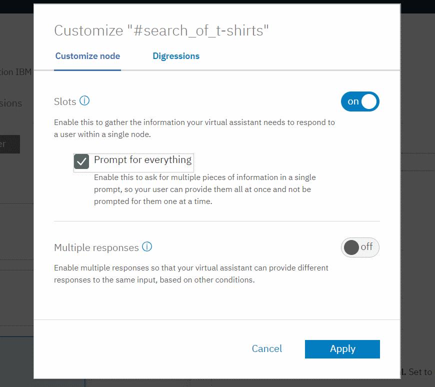 IBM Watson Assistant - Customize