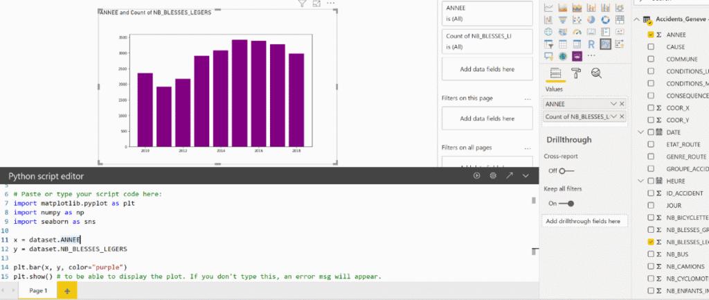 Use Python Visual
