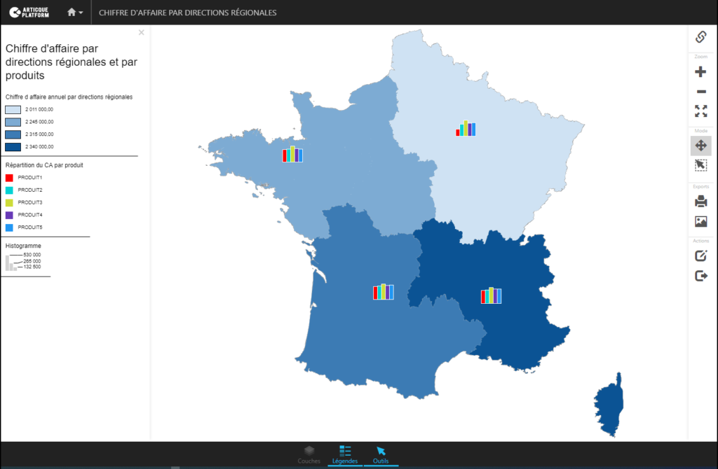 Use case Géo Décisionnel - Analyse de la performance produit au niveau national